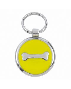 "Tagiffany Hundemarke mit Emaille 'Smarties', ""Knochen"", Gelb, medium"