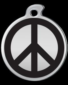 """Misstoro Tiermarke mit Emaille, """"Peace"""", Schwarz, klein"""
