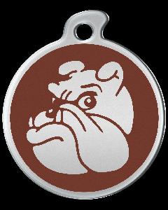 """Misstoro Hundemarke mit Emaille, """"Bulldogge"""", Braun, groß"""