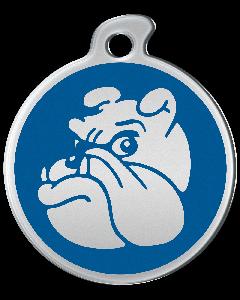 """Misstoro Hundemarke mit Emaille, """"Bulldogge"""", Blau, medium"""