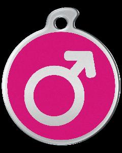 """Misstoro Tiermarke mit Emaille, """"Männlich"""", Pink, klein"""