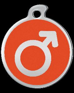 """Misstoro Tiermarke mit Emaille, """"Männlich"""", Orange, klein"""