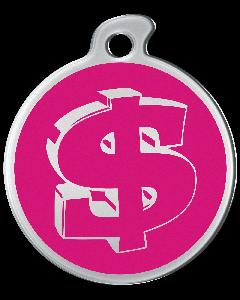 """Misstoro Tiermarke mit Emaille, """"Dollar"""", Pink, klein"""
