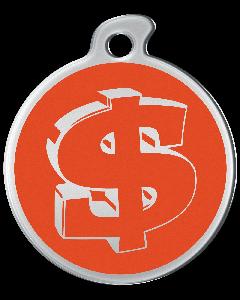 """Misstoro Tiermarke mit Emaille, """"Dollar"""", Orange, klein"""