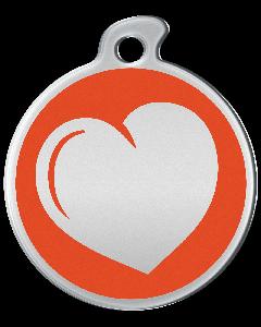 """Misstoro Tiermarke mit Emaille, """"Herz"""", Orange, klein"""