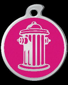 """Misstoro Tiermarke mit Emaille, """"Feuerhydrant"""", Pink, klein"""