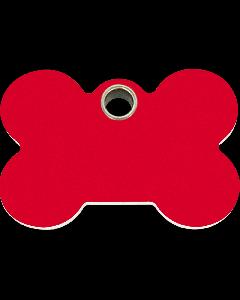 """RedDingo Hundemarke aus Kunststoff, """"Knochen"""", Rot, medium"""