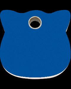 "RedDingo Tiermarke aus Kunststoff, ""Katze"", Blau, klein"