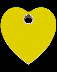 "RedDingo Hundemarke aus Kunststoff, ""Herz"", Gelb, groß"