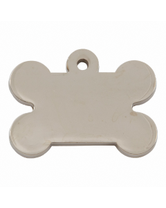 "Tagiffany Hundemarke, vernickelt 'Chunky Bone', ""Knochen"", medium/groß"