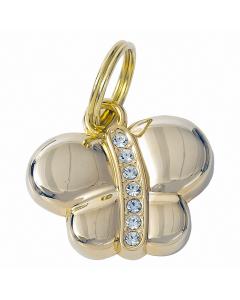 """Tagiffany Hundemarke, vergoldet 'My Precious', """"Schmetterling"""", Gold, medium/groß"""